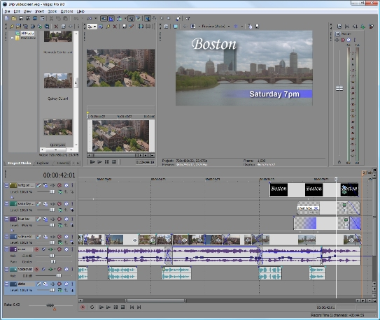 vegas video editing
