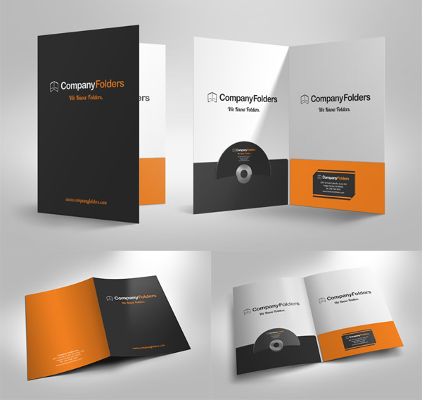 30 outstanding mockup templates for folder designs [download, Presentation templates