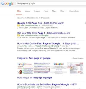 Not Everyone Can Be on Page One of Google [VIDEO]