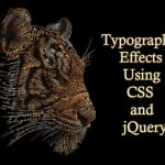 Typography Effects Using CSS and jQuery
