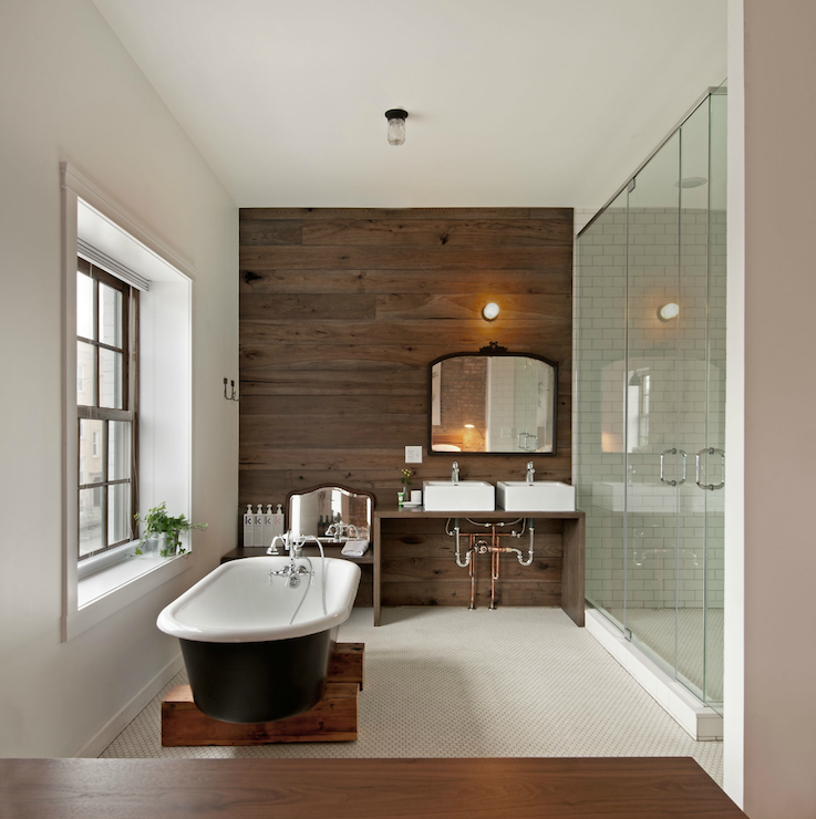 Wandverkleidung Holz Vintage ~ 40+ Creative Ideas for Bathroom Accent Walls  Designer Mag