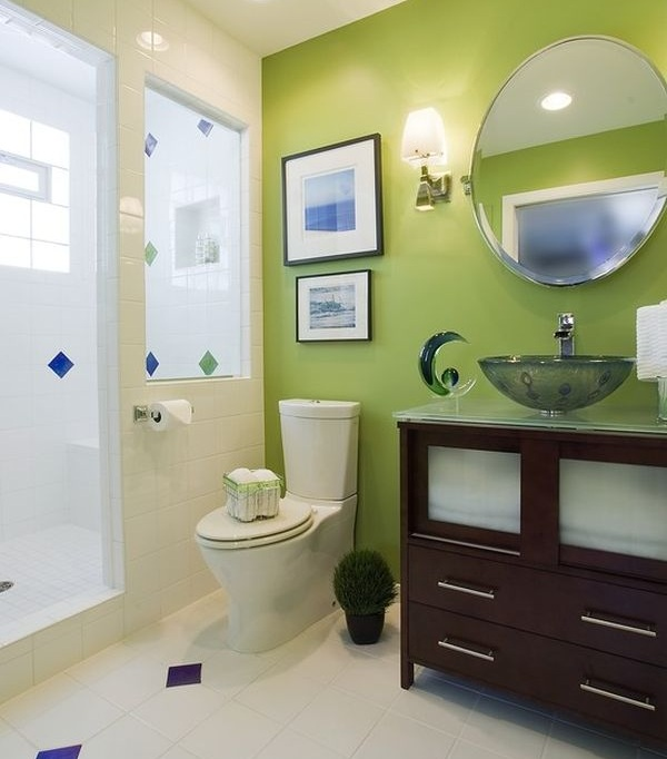 You Can Also Experiment With Other Colors To Give A Desired Look To Your Bathroom  Accent Wall.