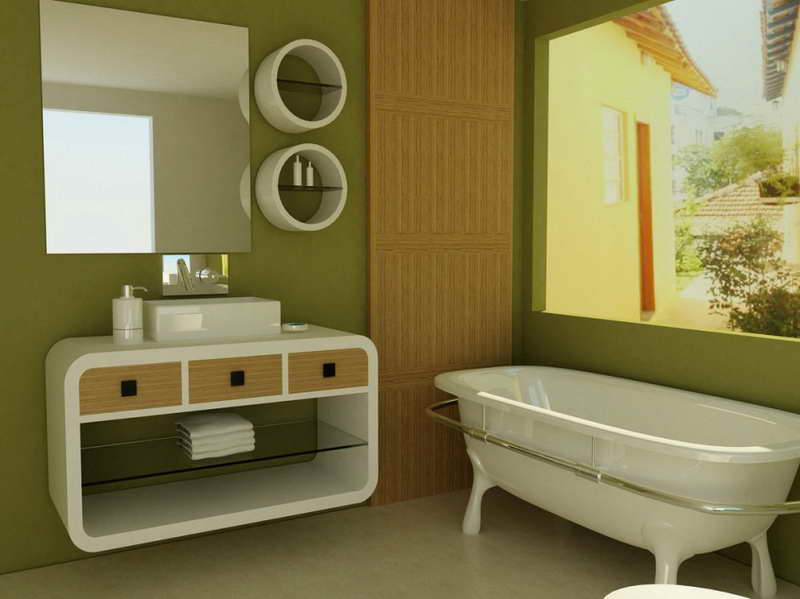 40 creative ideas for bathroom accent walls designer mag for Bathroom painting designs