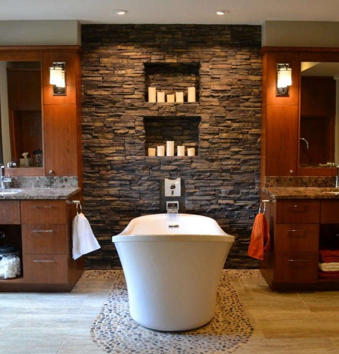 40+ creative ideas for bathroom accent walls - designer mag