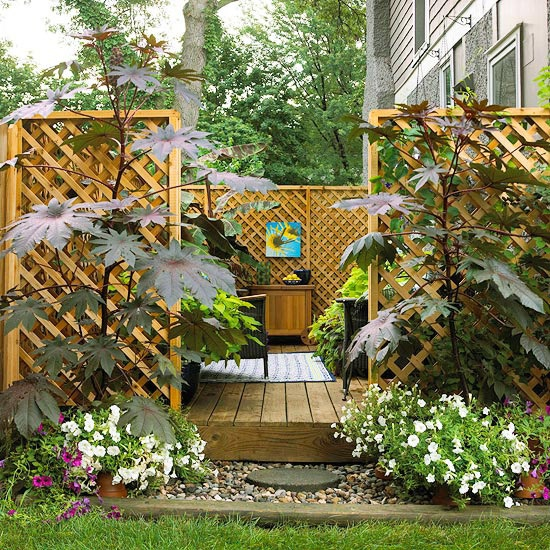 easy ways to make your yard more private designer mag