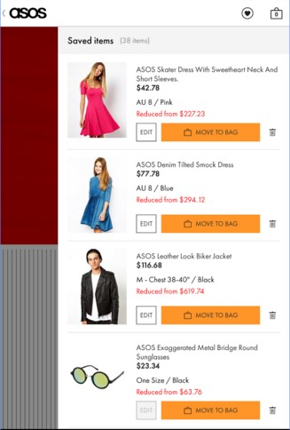 Asos eCommerce Mobile App