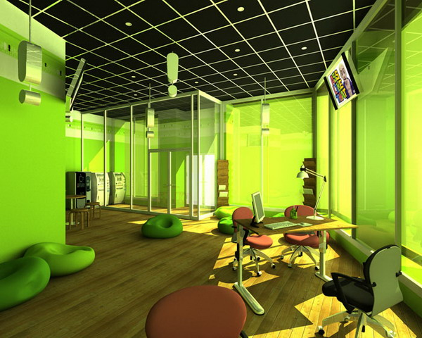 green office design. Green Office Color Scheme Design W