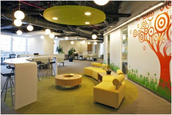 yellow color office design