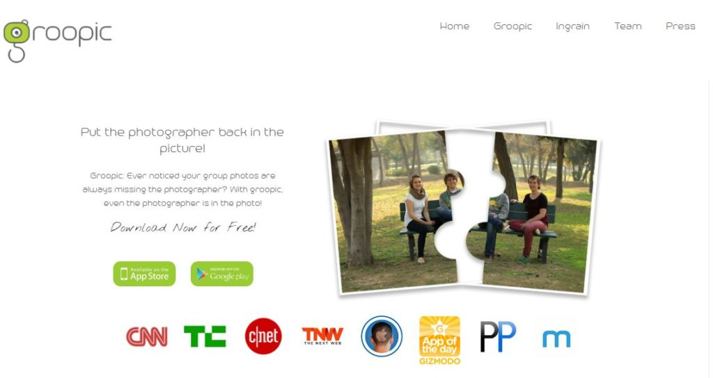 Groopie's landing page - pic 8