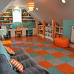 convert garage to kids playroom