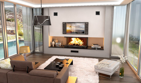 home decor ideas with fireplace 7