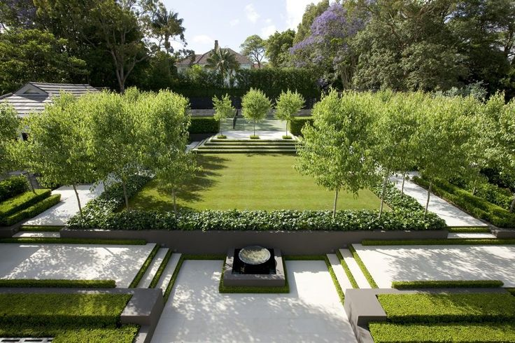 7 types of landscape designs matching your home d cor for Formal landscape design