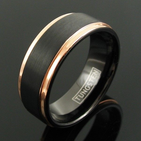 tungsten-rings-men-black-rose-gold