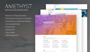 Amethyst Multipurpose PSD Template