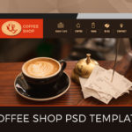 One Page PSD Template- Coffee Shop