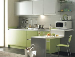 kitchen with earthy colors