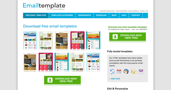 Free Newsletter Templates Download  Free Newsletter Layout Templates