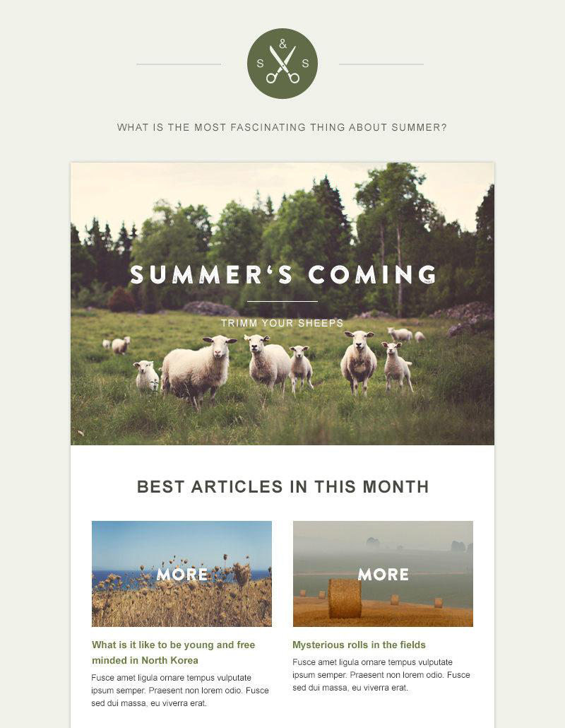 Email Is Still Alive  Free Newsletter Templates For Daily Use