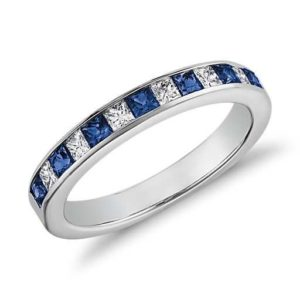 diamond ring blue and white
