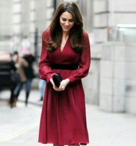 kate a line maroon dress