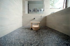 stone flooring bathroom