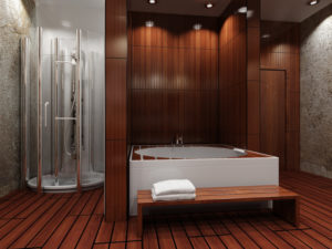 wood bathroom flooring