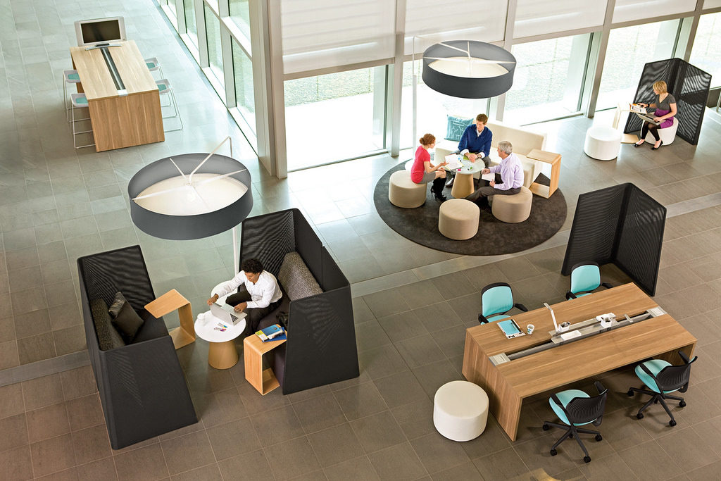 5 innovative office design tricks to improve productivity Collaborative workspace design