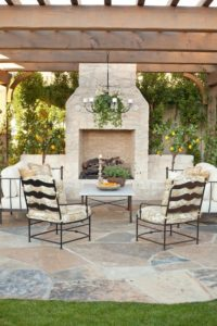 Create an outdoor sitting area a
