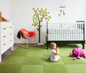 eco friendly rug green
